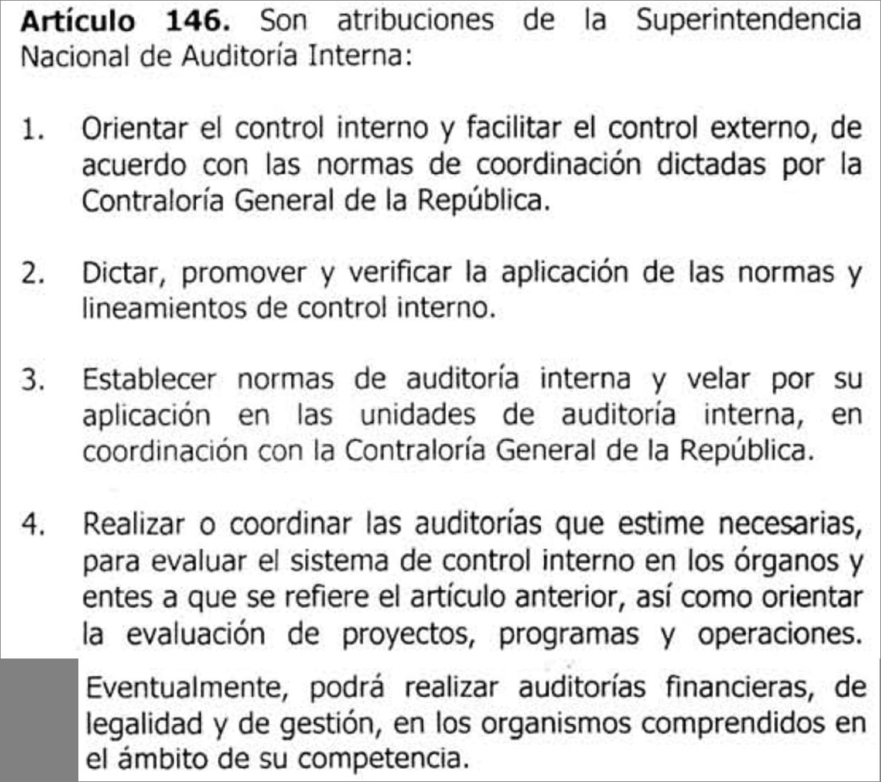 atribuciones de la superintendencia nacional de auditor a